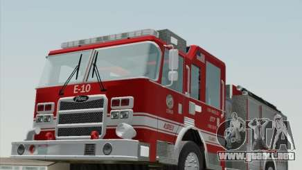 Pierce Saber LAFD Engine 10 para GTA San Andreas