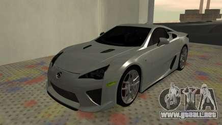 Lexus LFA AutoVista 2010 para GTA San Andreas