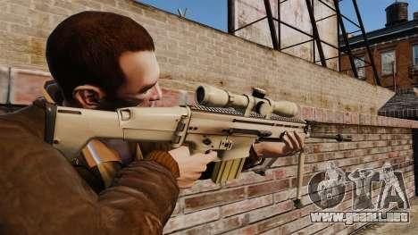 Mk17 SCAR-H para GTA 4 segundos de pantalla