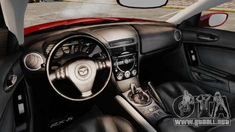 Mazda RX-8 Light Tuning para GTA 4 vista interior