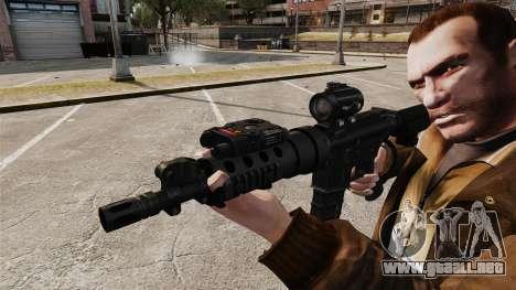 V1 M4 Tactical para GTA 4 adelante de pantalla