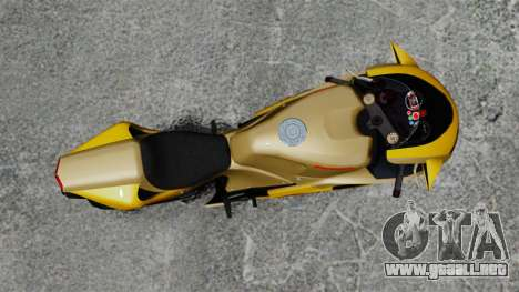 Ducati 848 para GTA 4 Vista posterior izquierda