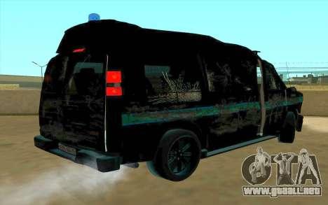 GMC Savana AWD FSB para visión interna GTA San Andreas