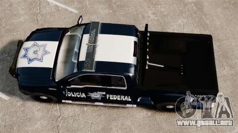 Ford F-150 De La Policia Federal [ELS & EPM] v1 para GTA 4 visión correcta