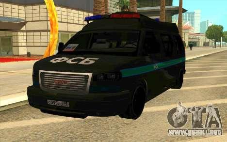 GMC Savana AWD FSB para GTA San Andreas vista posterior izquierda