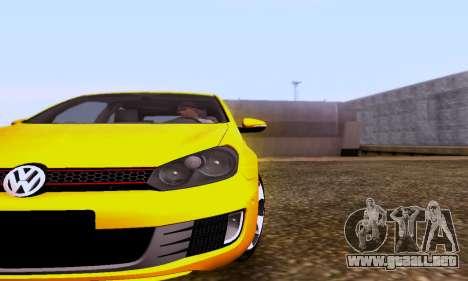 Volkswagen Golf 6 GTI para GTA San Andreas vista posterior izquierda