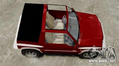 Suzuki Vitara JLX para GTA 4 visión correcta