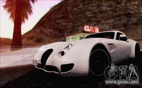 Wiesmann GT MF5 2010 para vista inferior GTA San Andreas