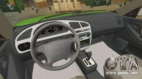 Daewoo Lanos FL 2001 US para GTA 4 vista interior