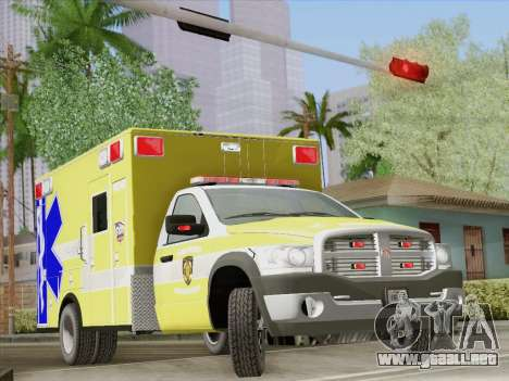 Dodge Ram Ambulance BCFD Paramedic 100 para las ruedas de GTA San Andreas