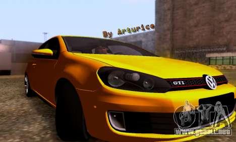 Volkswagen Golf 6 GTI para GTA San Andreas left