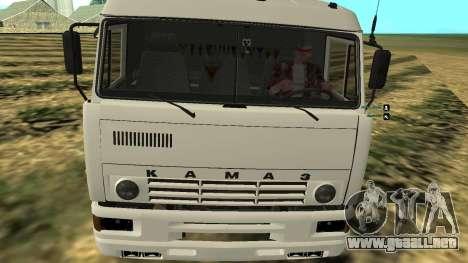 KAMAZ-54112 para la visión correcta GTA San Andreas