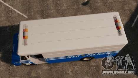 Chevrolet Step-Van 1985 NYPD para GTA 4 visión correcta