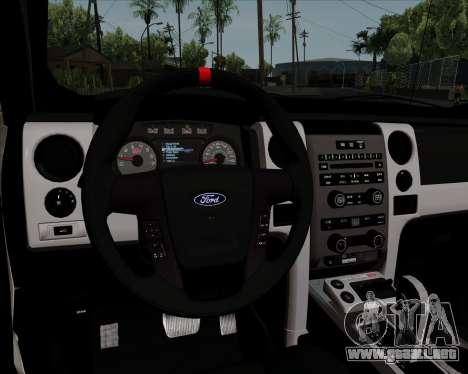 Ford F-150 SVT Raptor 2011 para vista inferior GTA San Andreas