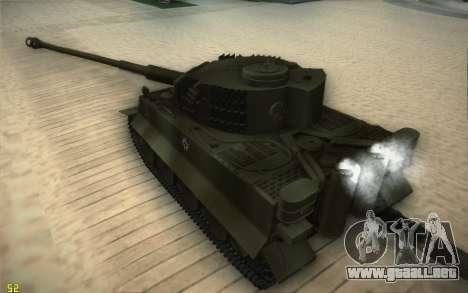Pzkpfw VI Tiger I para la visión correcta GTA San Andreas