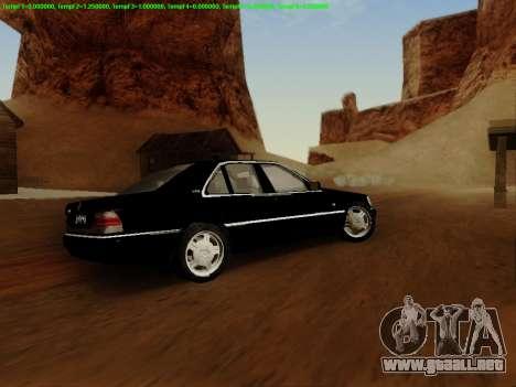 Mercedes-Benz W140 para vista lateral GTA San Andreas