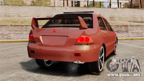 Mitsubishi Lancer Evolution IX 1.6 para GTA 4 Vista posterior izquierda
