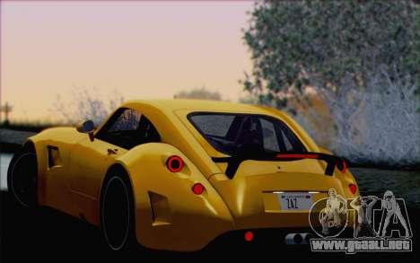 Wiesmann GT MF5 2010 para las ruedas de GTA San Andreas