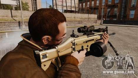 Máquina de asalto FN SCAR-L para GTA 4 segundos de pantalla