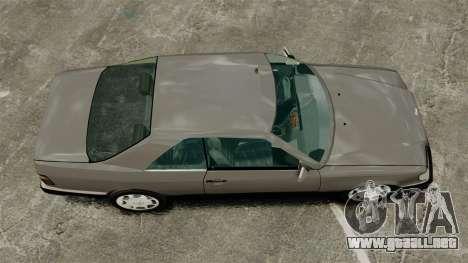 Mercedes-Benz W124 Coupe para GTA 4 visión correcta