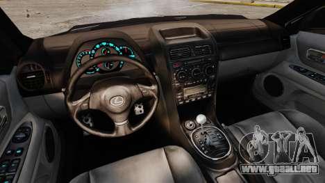 Lexus IS300 para GTA 4 vista hacia atrás