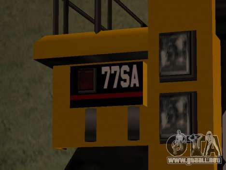 Dumper nuevo para GTA San Andreas vista posterior izquierda