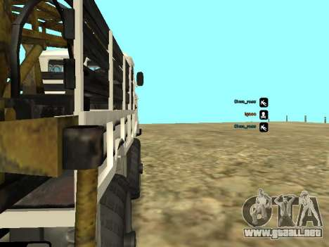 Perforación de gas 66 para GTA San Andreas vista hacia atrás