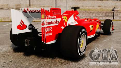 Ferrari F138 2013 v4 para GTA 4 Vista posterior izquierda