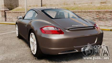 Porsche Cayman S para GTA 4 Vista posterior izquierda
