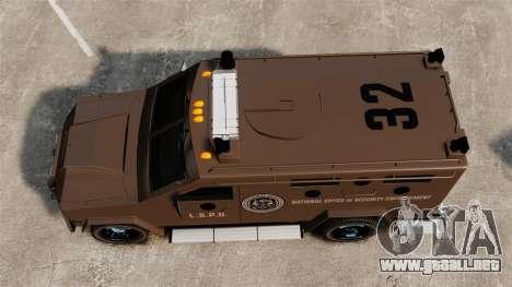 Lenco Bearcat blindados LSPD GTA V para GTA 4 visión correcta