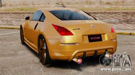 Nissan 350Z Tuning para GTA 4 Vista posterior izquierda