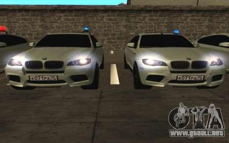 BMW x 6 M con destellar las luces PPP para vista lateral GTA San Andreas