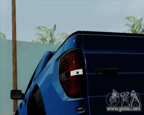 Ford F-150 SVT Raptor 2011 para la vista superior GTA San Andreas