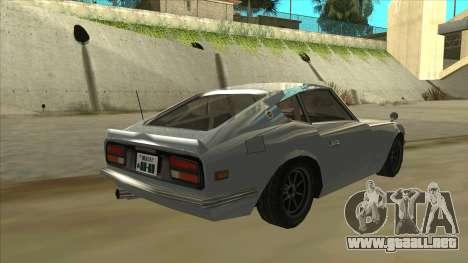 Nissan Fairlady S30Z para la visión correcta GTA San Andreas