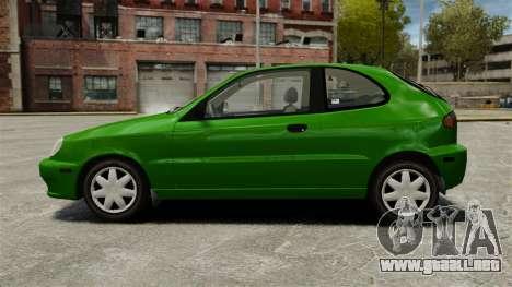 Daewoo Lanos FL 2001 US para GTA 4 left