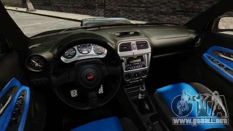 Subaru Impreza 2005 DTD Tuned para GTA 4 vista lateral
