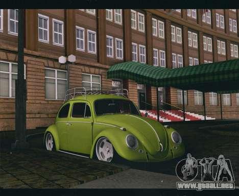 Volkswagen Beetle 1966 para GTA San Andreas vista posterior izquierda