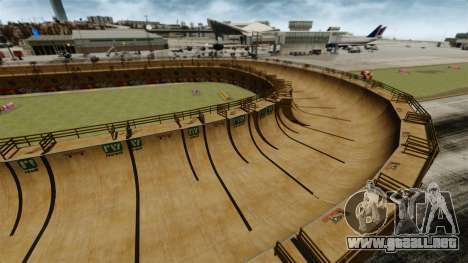 Pista de carreras v1.1 para GTA 4 adelante de pantalla