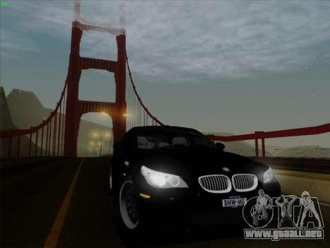 BMW M5 Hamann para GTA San Andreas vista hacia atrás