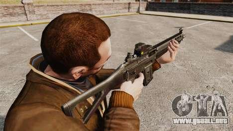 Rifle de asalto SIG 551 para GTA 4 segundos de pantalla