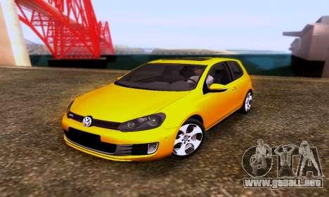 Volkswagen Golf 6 GTI para GTA San Andreas