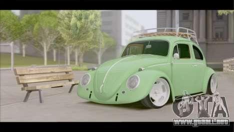 Volkswagen Beetle 1966 para GTA San Andreas vista hacia atrás