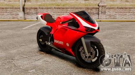 Ducati 1098 para GTA 4 left