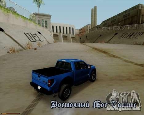 Ford F-150 SVT Raptor 2011 para GTA San Andreas interior