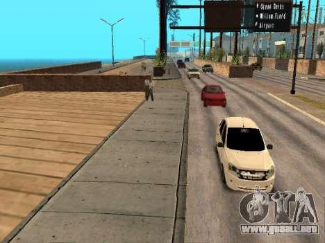 Lada Granta para GTA San Andreas vista hacia atrás
