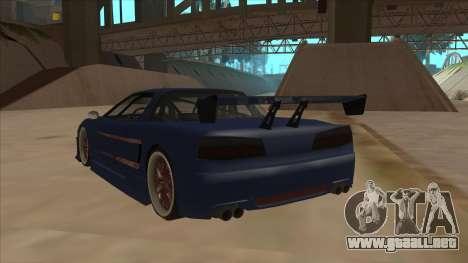 Infernus 2013 para GTA San Andreas vista hacia atrás