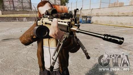Máquina de asalto FN SCAR-L para GTA 4 tercera pantalla