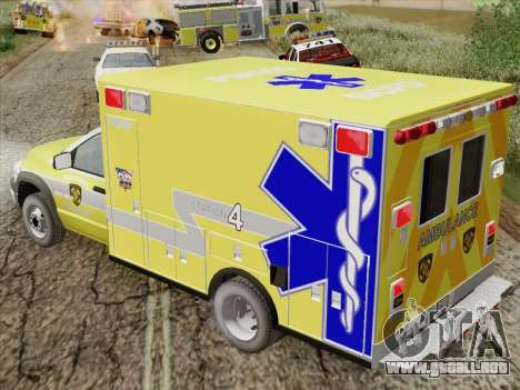Dodge Ram Ambulance BCFD Paramedic 100 para vista lateral GTA San Andreas