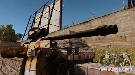 Rifle de francotirador L115A1 AW para GTA 4 tercera pantalla
