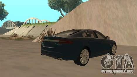 Jaguar XFR 2010 v1.0 para la visión correcta GTA San Andreas